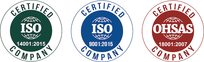 ISO 9001, 14001 and OHSAS 18001 Certified Organisation