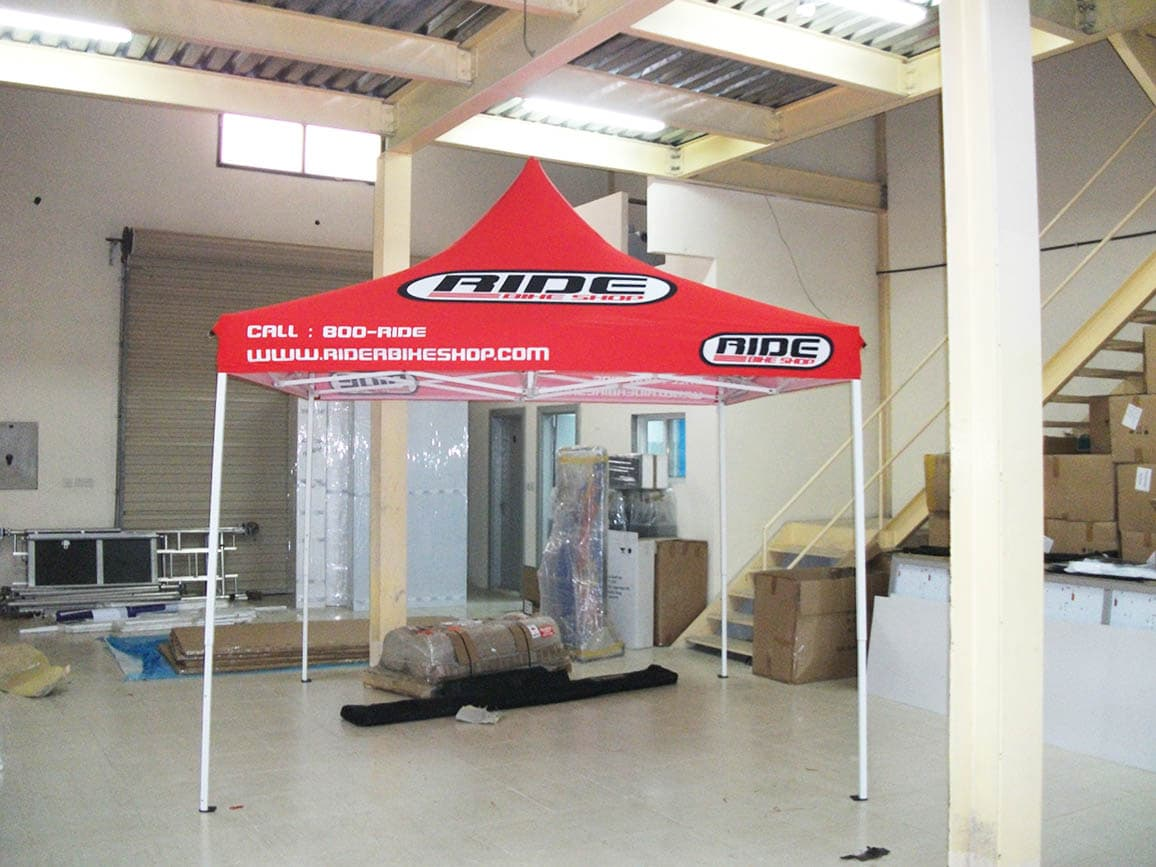 custom printed open tent