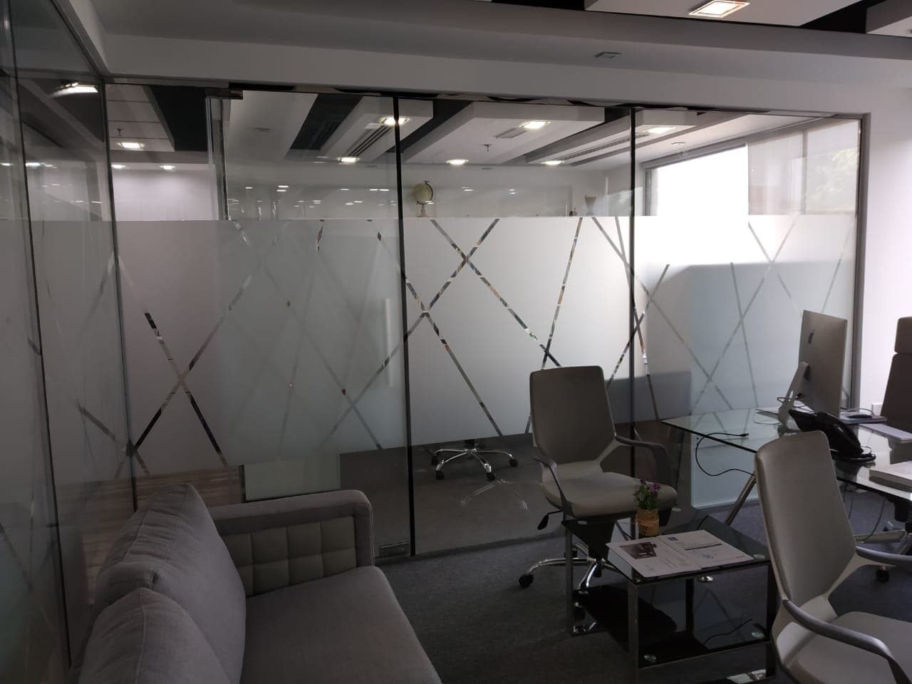 frosted office branding